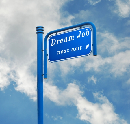 Road signs to dream job Stock Photo - 7177687