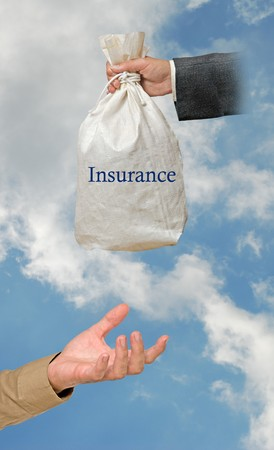 Giving insurance photo