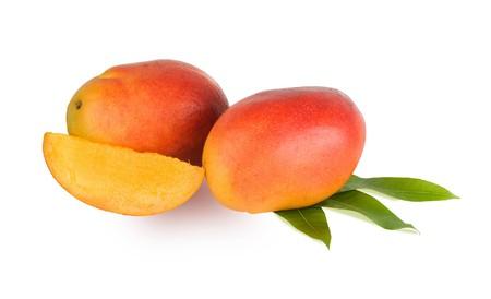 superfruit: Mangoes isolated on white background