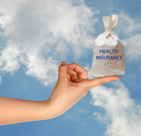 health reform: Giving health insurance Stock Photo