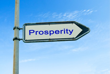 Road sign to prosperity photo