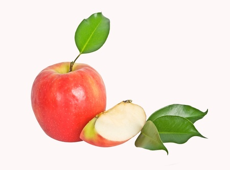 segment: Red apple and segment