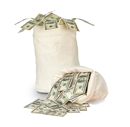 richness: Money bags Stock Photo