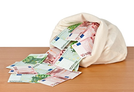 Bag with money Stock Photo - 9115279
