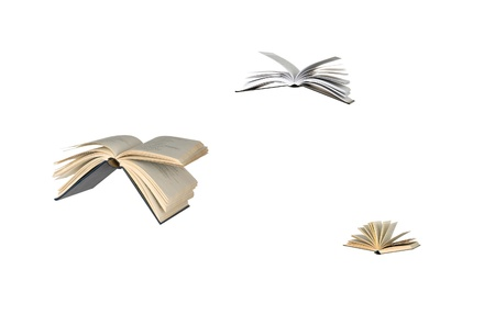 Flying books Stock Photo - 9175503