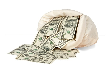 Money bag Stock Photo - 9182572