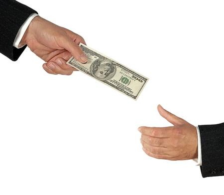 handing: Transfer of dollar
