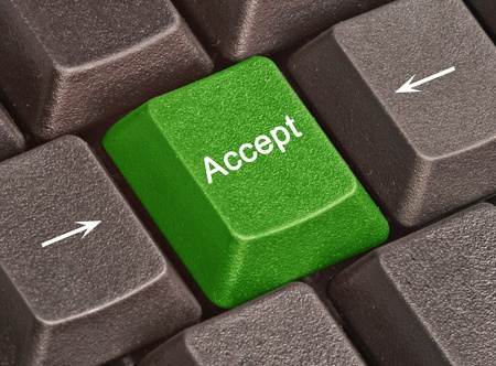 accept: Hot keys for Accept Stock Photo