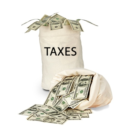 Bag with taxes photo