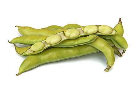 Green beans isolated on white background Stock Photo - 9509434