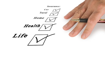 travel agent: Check boxes of insurance