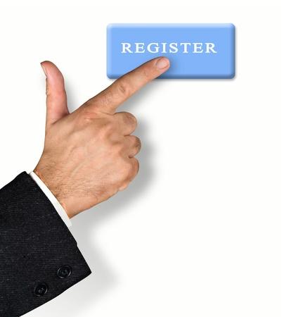 Man pressing register button Stock Photo - 10658597