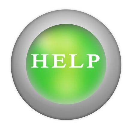 command button: Help button Stock Photo
