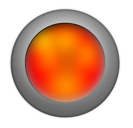 command button: Red button Stock Photo