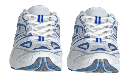 Sneakers isolated on white background photo