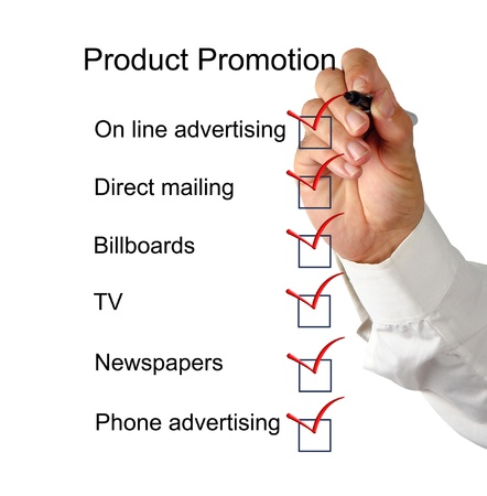 Product promotion checklist photo