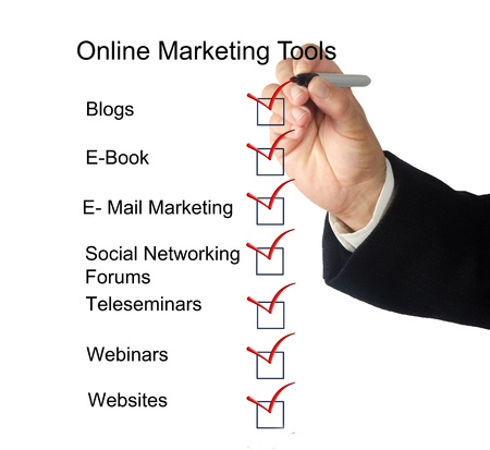 hand tool: Online marketing tools
