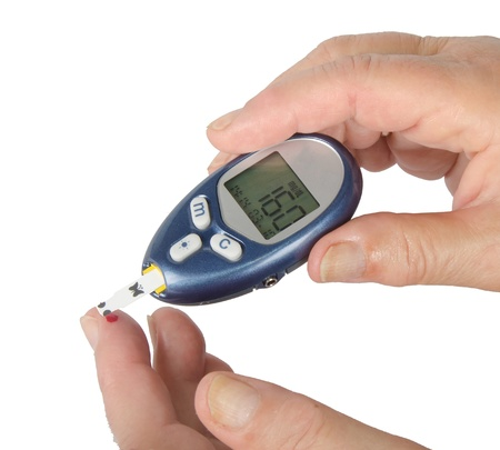 diabetic: Home glucose meter Stock Photo