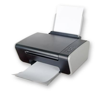 impresora: Impresora aislada sobre fondo blanco