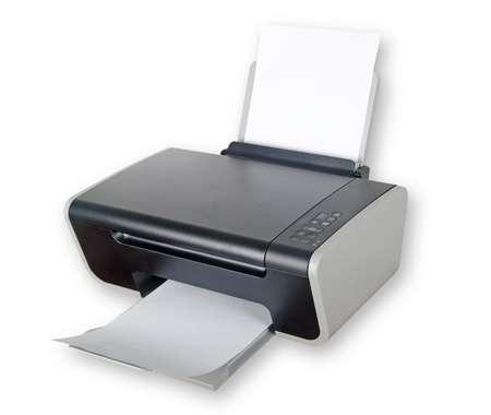 printer ink: Printer isolated on white background