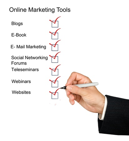 Online marketing tools Stock Photo - 10832521