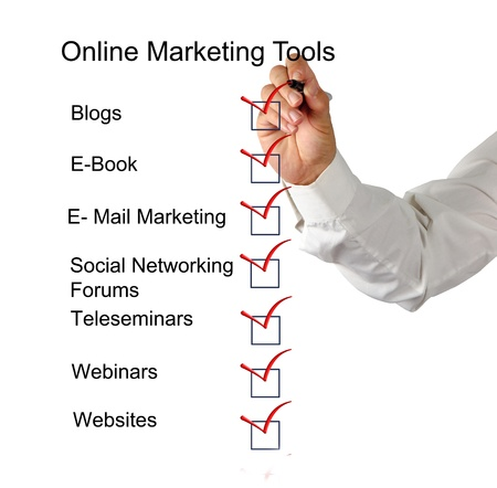 Online marketing tools Stock Photo - 10832569