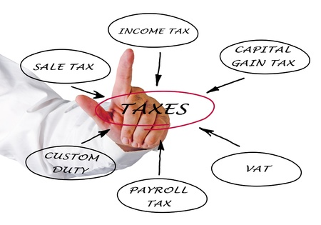 Presentation of structure of taxation photo