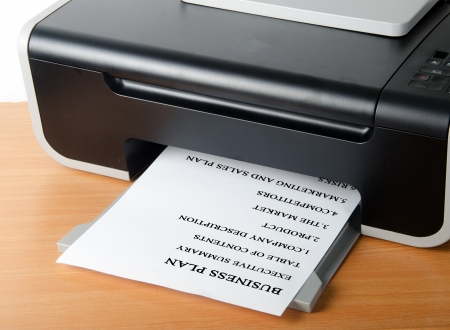 Printer printing business plan