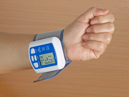 Digital blood pressure meter photo