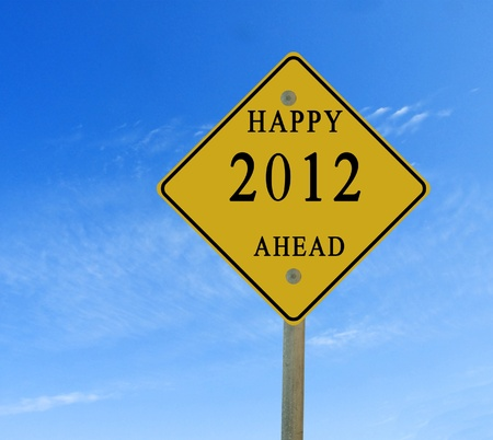 happy 2012 ahead Stock Photo - 10910280