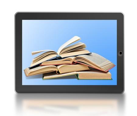 ereader: Symbol of digital library and e-reader