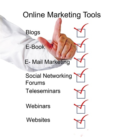 Online marketing tools Stock Photo - 10996238