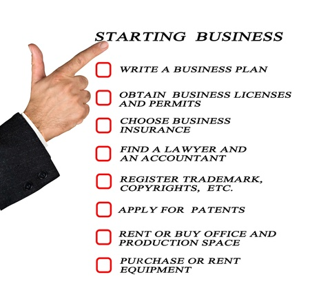 copyright: Checklist for starting business