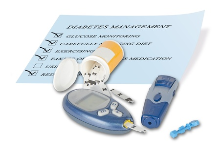 disease control: Blood glucose monitor Stock Photo