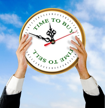 Clock in hands Stock Photo - 11098740