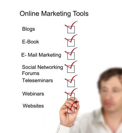 Online marketing tools Stock Photo - 11098758