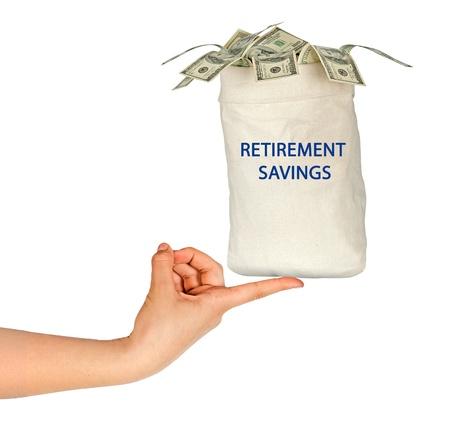 retirement savings: retirement savings Stock Photo
