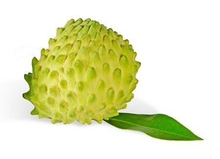 annona: Soursop isolated on white background  Stock Photo