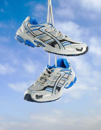 tennis shoe: Pair of sneakers