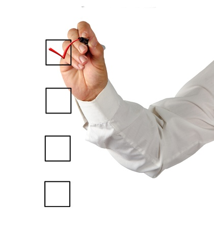 background check: Checklist Stock Photo