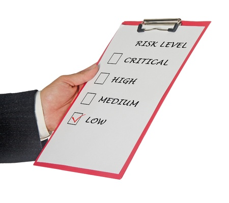Checklist for risk level Stock Photo - 11404638