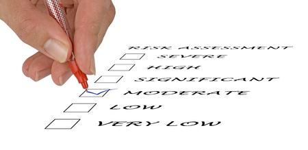 Risk assessment checkbox Stock Photo - 11404657
