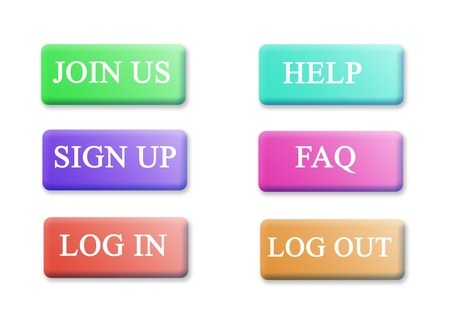 Set of buttons for web site photo