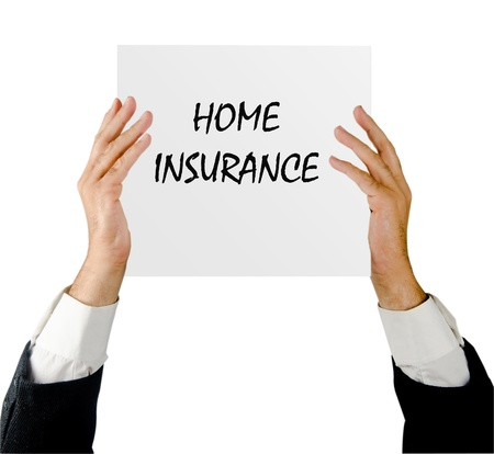advertisment: Man with insurance advertisment Stock Photo