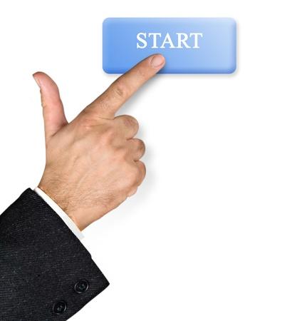 pressing on start button photo