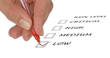 Checklist for risk level Stock Photo - 11688041