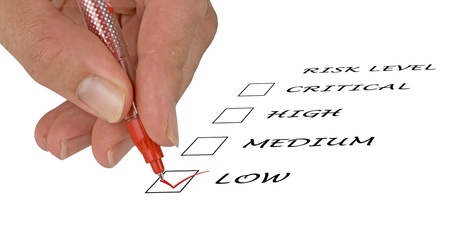 Checklist for risk level Stock Photo - 11688041