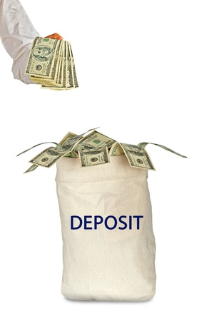 payer: Bag with deposit Stock Photo