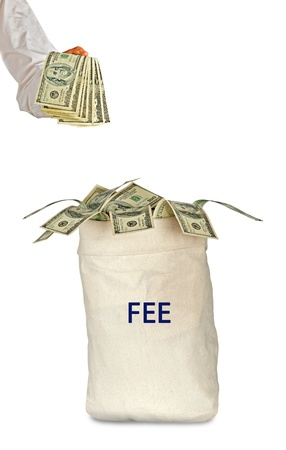 fee: Paying fee Stock Photo