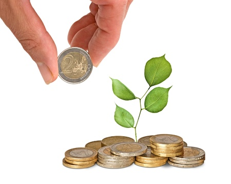 Investment to green tecnjljgy Stock Photo